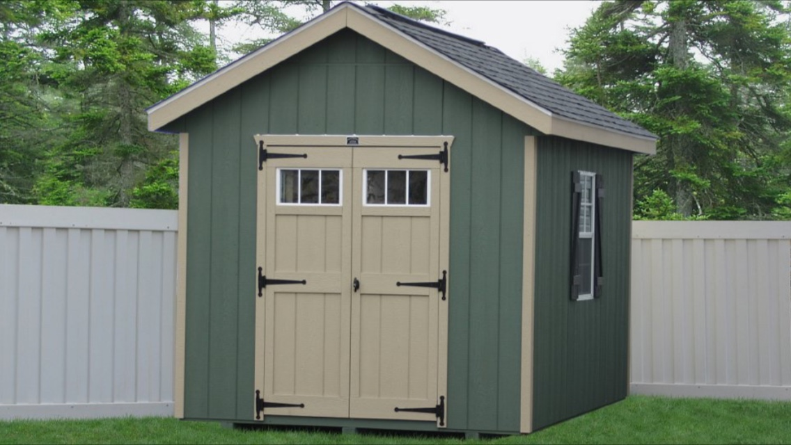 shed with shingled siding accessories windows double leonard and vinyl truck buildings storage doors sheds roof